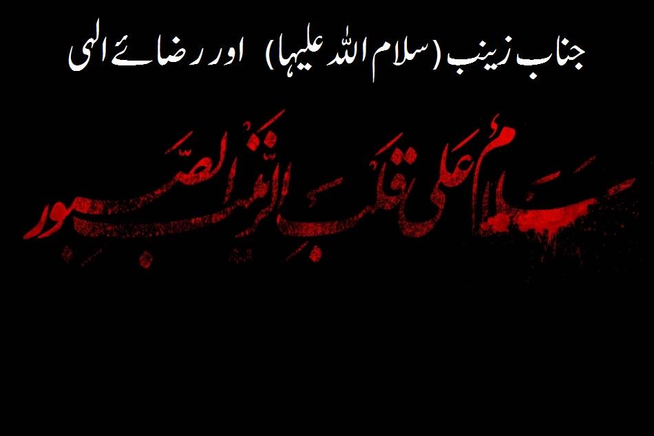 جناب زینب (سلام اللہ علیہا) اور رضائے الہی