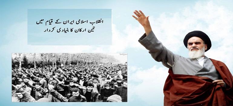 انقلاب اسلامی ایران کے قیام میں تین ارکان کا بنیادی کردار