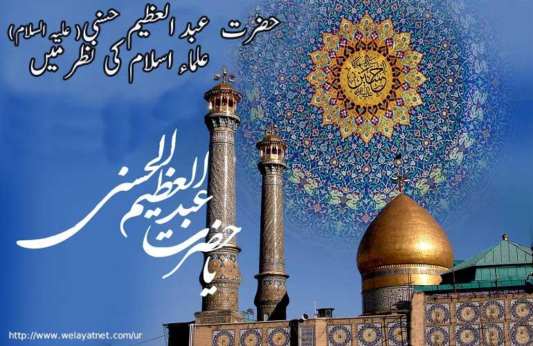 حضرت  عبد العظیم حسنی( علیہ السلام)، علماء اسلام کی نظر میں