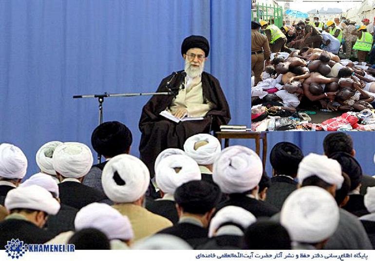 رہبر انقلاب اسلامی نے اپنے درس خارج میں سعودی حکام کی مذمت کی۔