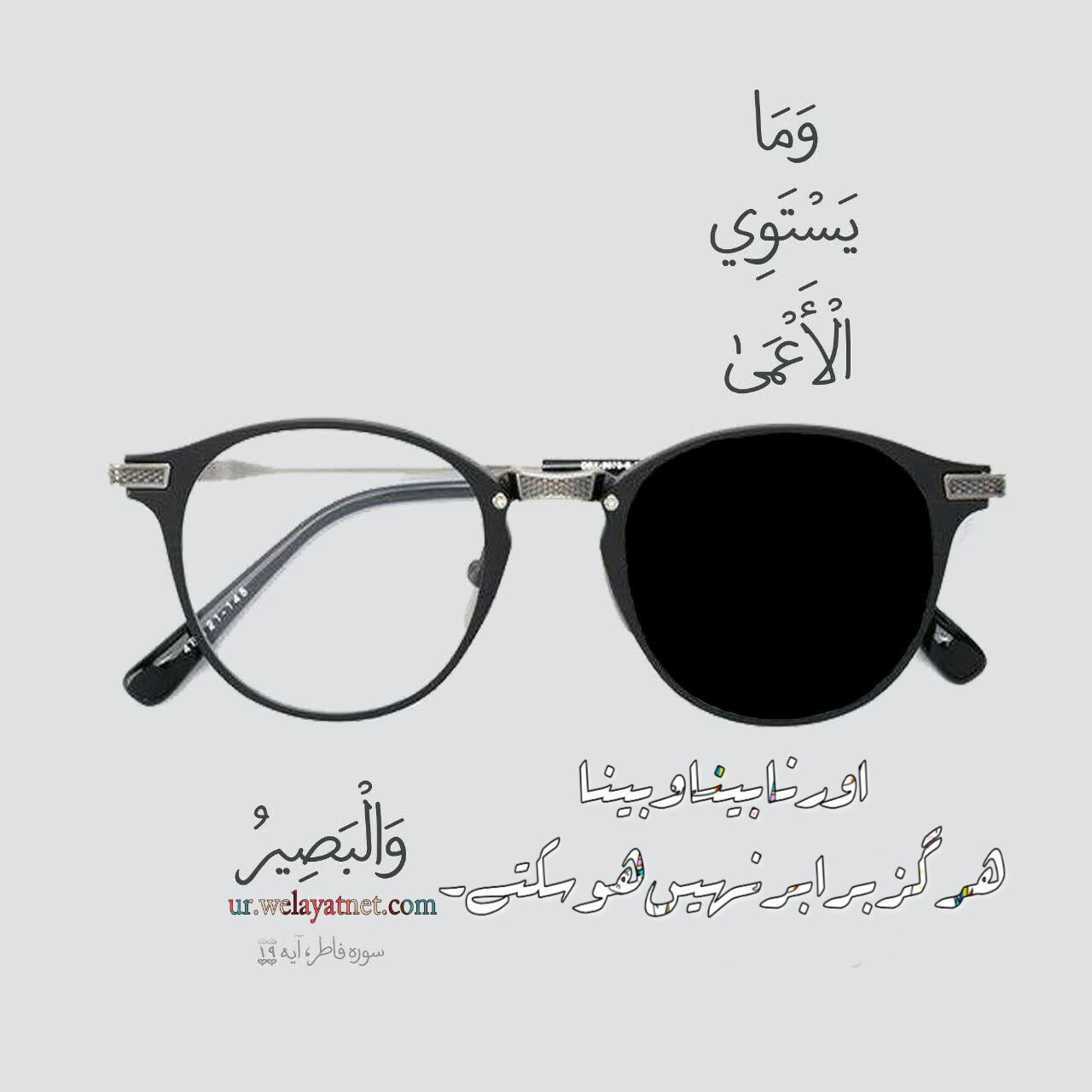 نابینا و بینا ہرگز برابر نہیں ہوسکتے