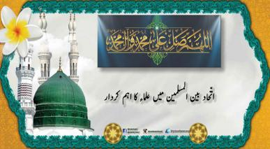 اتّحاد بین المسلمین میں علماء کا اہم کردار
