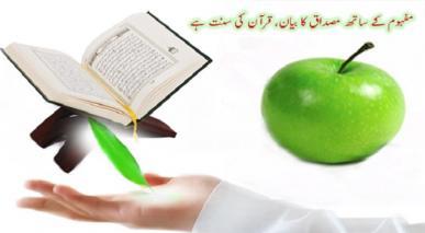 مفہوم کے ساتھ مصداق کو بیان کرنا، قرآن کی سنت