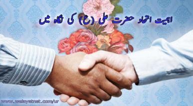 اہمیت اتحاد حضرت علی (ع) کی نگاہ میں