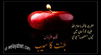 حضرت فاطمہ(سلام اللہ علیہا) کو آسمان میں کیوں منصورہ کہا گیا
