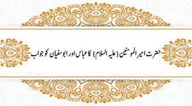 حضرت امیرالمومنین (علیہ السلام) کا عباس اور ابوسفیان کو جواب