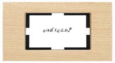 عقل اللہ کے دین کو سمجھنے کا ذریعہ