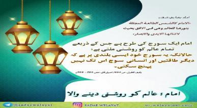 امام؛ عالم کو روشنی دینے والا