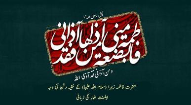 حضرت فاطمہ زہرا (سلام اللہ علیہا) کا خفیہ دفن کی وجہ اہلسنت علماء کی زبانی